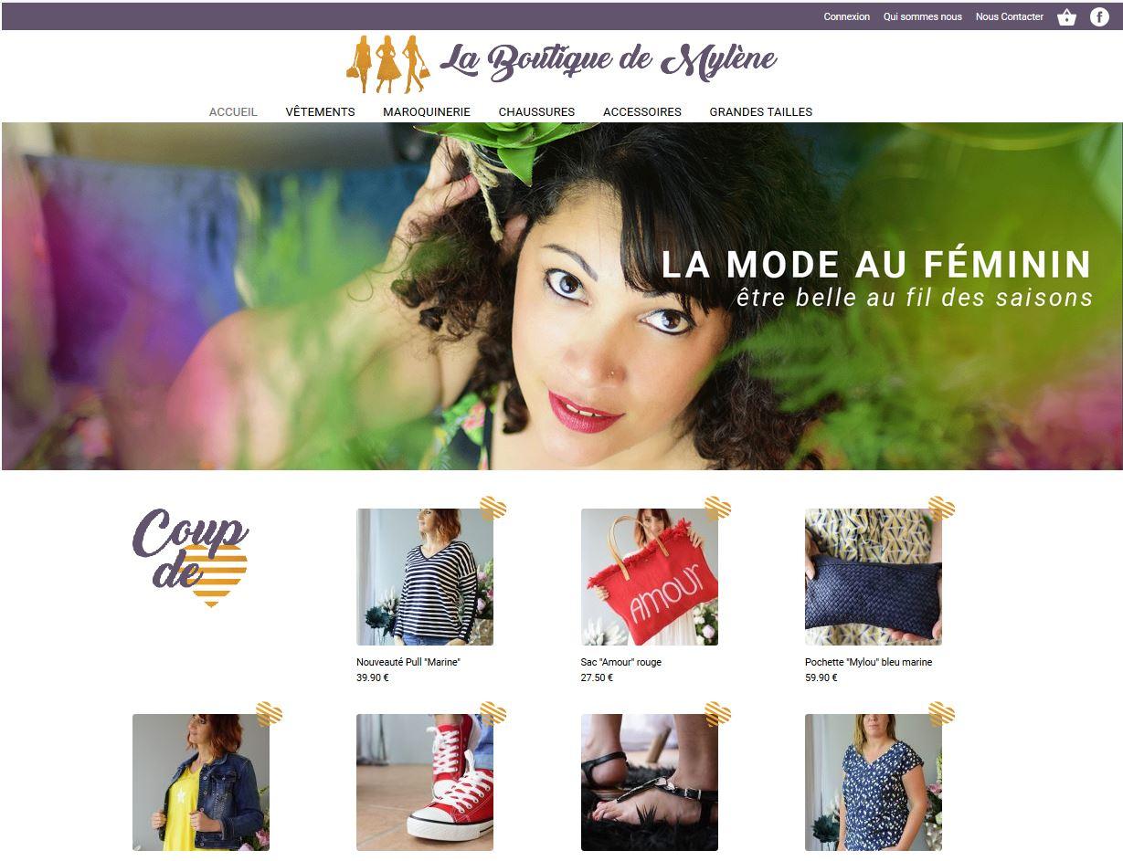 """<a href=""""http://laboutiquedemylene.com/"""" target=""""_blank"""" rel=""""noopener noreferrer"""">Visitez le site web de La Boutique de Mylène</a>"""